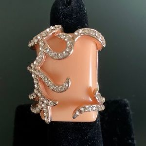 Rose Gold and Peach Colored Ring